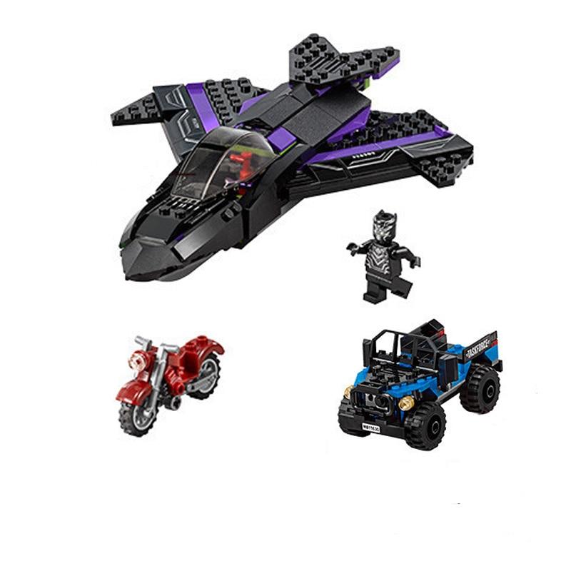 Decool 7122 Superheroes Avengers Black Panther Pursuit Compatible Marvel Endgame Figures Building Blocks 76047