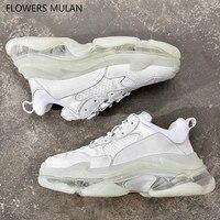 Пикантная обувь женщина кристалл подошва женские Сникеры на платформе обувь на шнуровке 35 44 пара кроссовки Zapatos де женская обувь tenis feminino