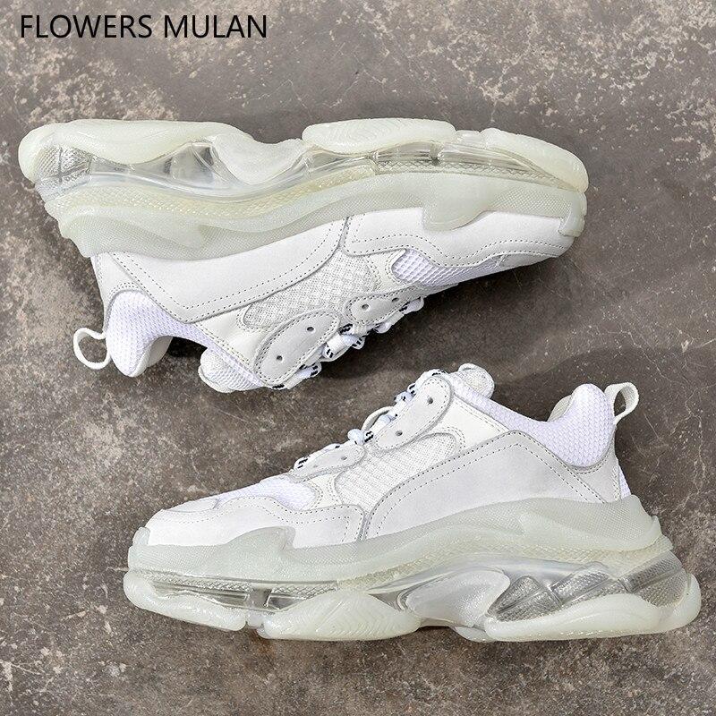 Zapatos calientes Zapatos De cristal Mujer suela zapatillas De plataforma Zapatos De Mujer Zapatos De encaje 35-44 par De zapatillas De deporte Zapatos De Mujer Zapatos tenis Femenino