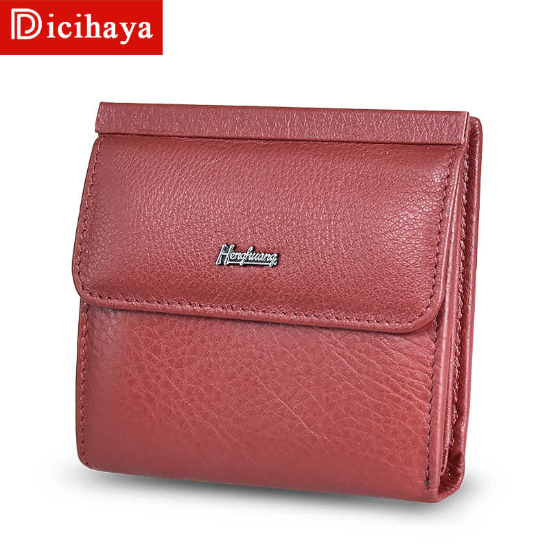Women Wallets Small Fashion Brand Real Leather Purse Ladies Card Bag For Women 2019 Clutch Women Female Purse Money Clip Wallet