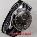 Автоматические Мужские часы miyota 8215  черные стерильные часы с циферблатом 41 мм  светящийся вручную керамический ободок  роскошные брендовые ...