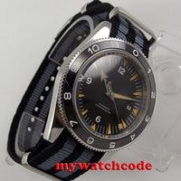 41 мм debert черный стерильные циферблат светящиеся керамический ободок miyota Автоматическая Мужские часы Элитный бренд Топ механические часы