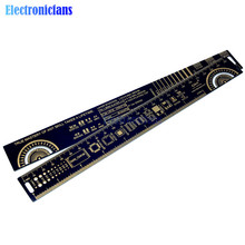 25cm 10 Inch Multifunctional PCB Ruler Measuring Tool Resistor Capacitor Chip IC For Electronic Engineers Measuring Tool