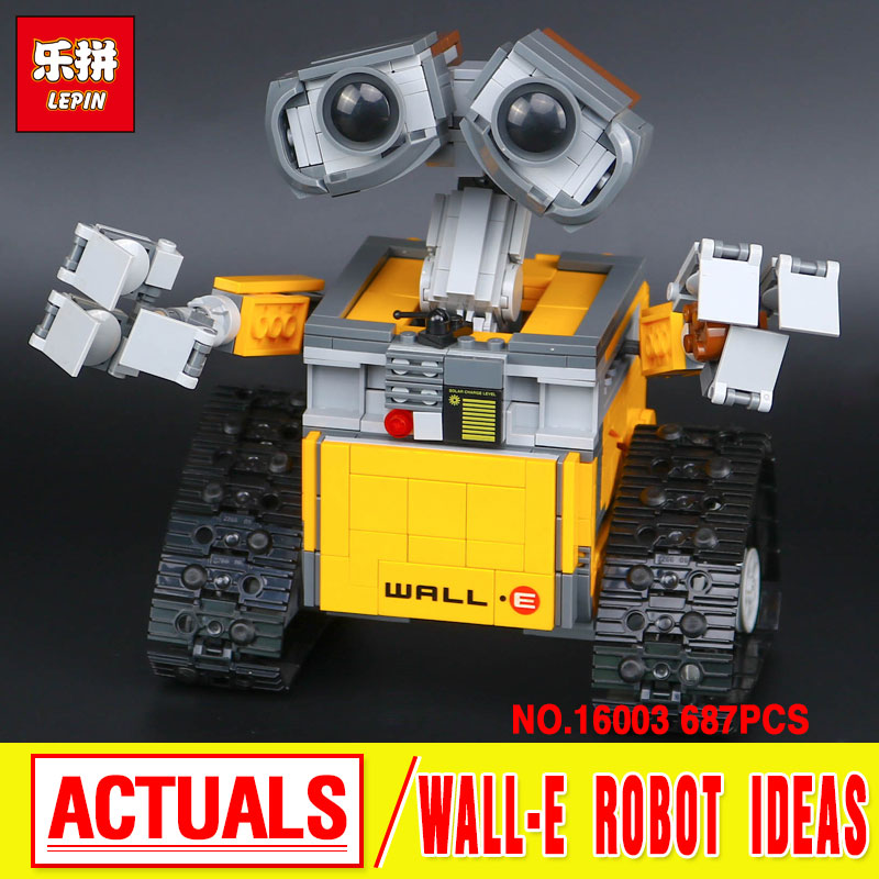 Lepin 16003 Ideas Robot Wall-E Building Assembling Blocks Bricks Educational  Kid`s Toys Compatible with 21303 lovely Toys Gifts black pearl building blocks kaizi ky87010 pirates of the caribbean ship self locking bricks assembling toys 1184pcs set gift
