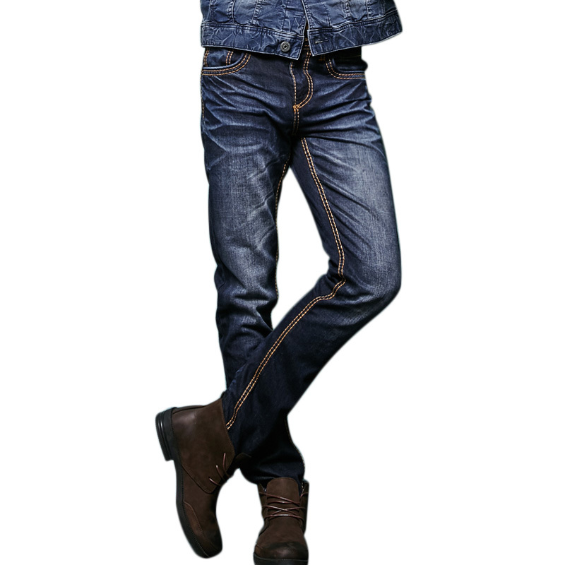2018 Hot sale 2018 newly fashion designer mens jeans Modern Series Brand Mens Relaxed Straight Denim Five Pocket Jean 146038C
