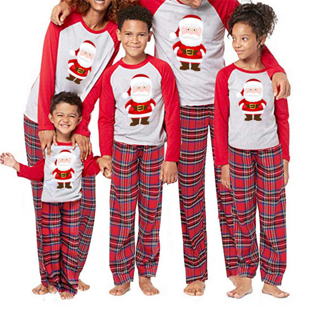 d221acf84c Cute Santa Claus Pyjamas For Family Matching Christmas Pajamas Set Adult Men  Women Kids Baby Sleepwear