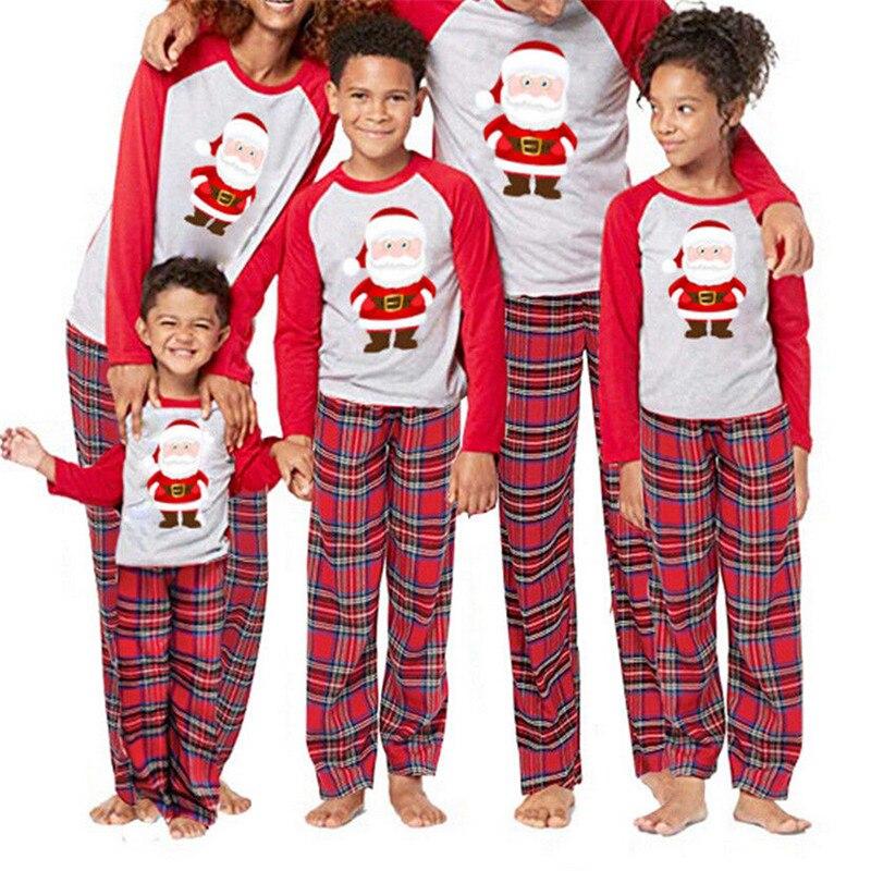 Pijamas Lindos De Papa Noel Para Familia Juego De Pijamas De Navidad