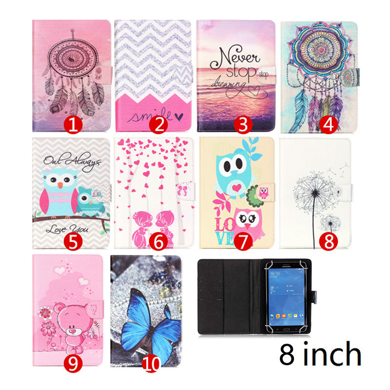 PU Leather Protective Stand Cover Case For Explay Mini TV 3G/Lagoon 8 inch Universal Tablet PC for LG G Pad 8.3 V500 S2C43D