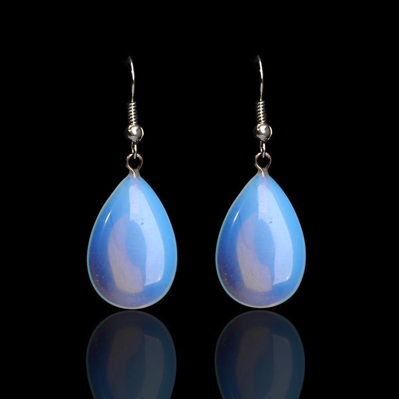 Tocona Handmade Fashion Natural Stone Opal Earrings