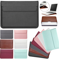 Eagwell Universal PU Leather Laptop Sleeve Bag Pouch For 11 13 15 Laptop Smooth Soft Durable