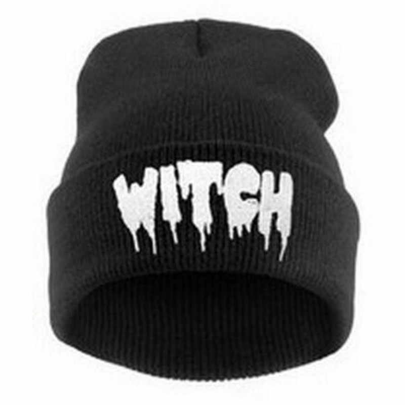cc94ee79c85 Europe and The United States Men and Women s Hip-Hop WITCH Embroidery  Knitted Wool Elastic