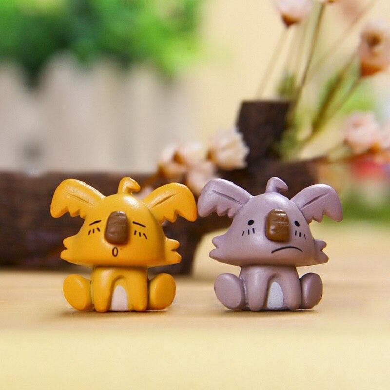 2pcs/lot Hot Sale Kawaii Dog lovers PVC Action Figure Toys DIY Creative Micro Landscape  ...