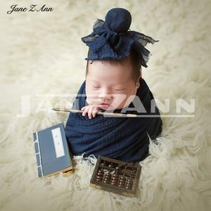Ropa de fotografía de Jane Z Ann para bebés y niños, trajes de fotografía para recién nacidos, libro antiguo chino para niños, ropa para niños, sombrero, accesorios para envolver