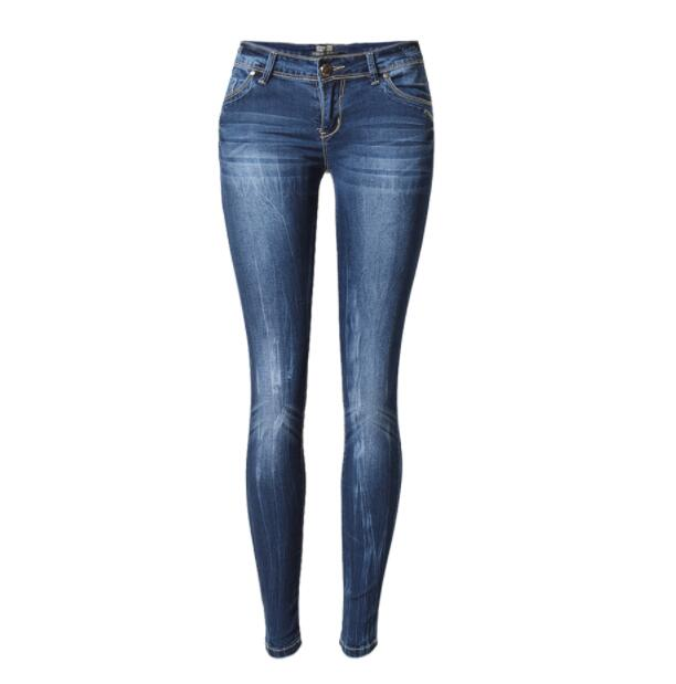 Ladies Jeans Mother Jeans Low Waist Jeans Ladies High Elastic XL Stretch Jeans Women Washed Denim Tight Pencil Pants
