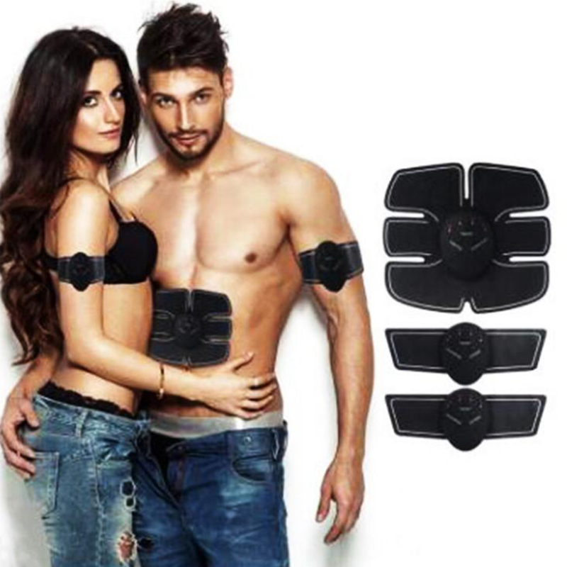 Exercise Massager EMS Electric Pulse Abdominal Electrical Muscle Stimulator Trainer lose weight Fitness Men women can