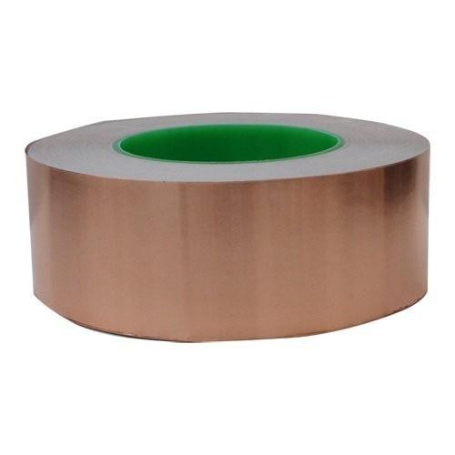 50mm X 30m Single Adhesive Conductive Copper Foil Tape Emi Shield Copper Strip High Temperature Resistant Tape wt 018 black low position copper base high temperature resistant cpu cold head silver