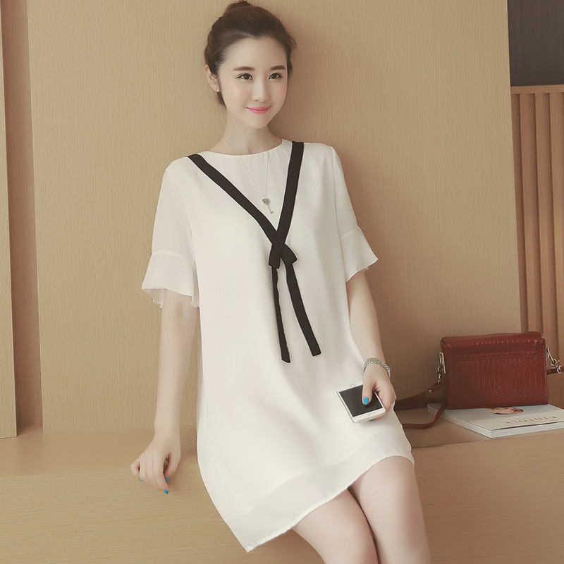 2016 new summer fashion maternity dresses chiffon pregnancy dresses ...
