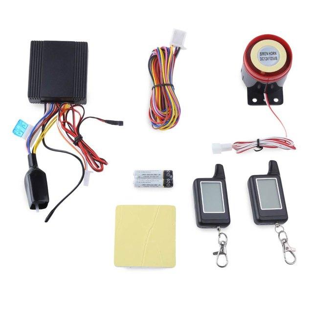 Resistência À Água LM300 Universal LCD em Dois Sentidos Da Motocicleta Anti-roubo Sistema de Alarme de Segurança Da Motocicleta Controle Remoto Do Alarme de Assaltante