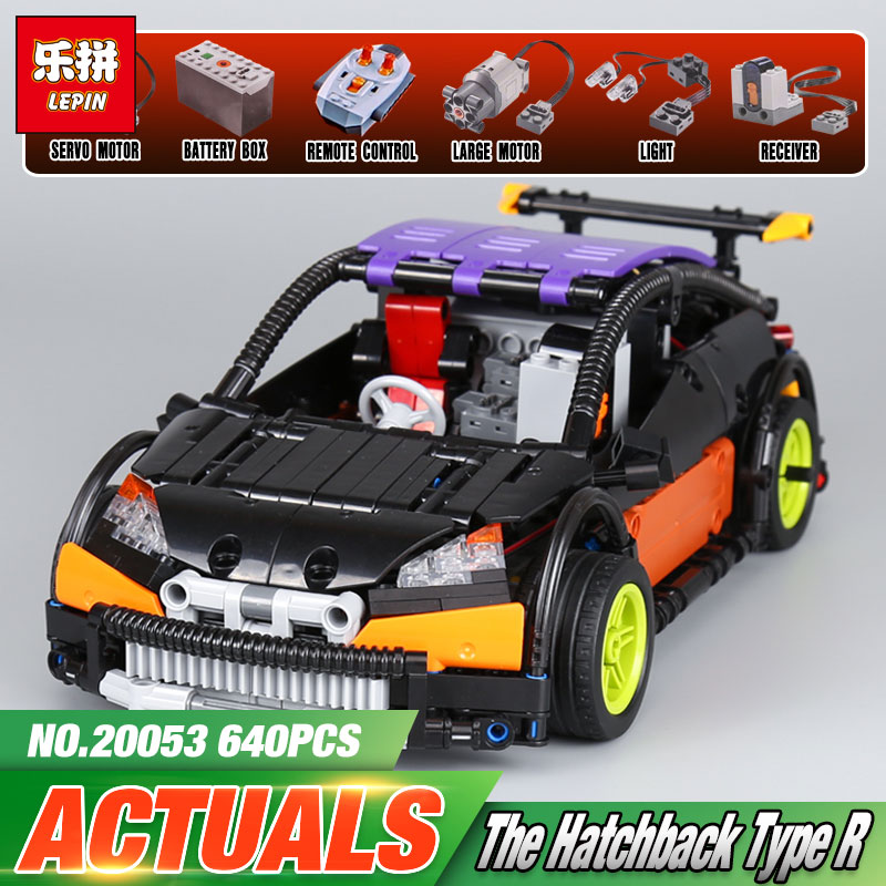 Lepin 20053 20053B Technic Series The Hatchback Type R Set MOC-6604 Building Blocks Bricks Children Educational Toys Boy Gifts lepin 20054 4237pcs the moc technic series the remote control t1 classic volkswagen camper set 10220 building blocks bricks toys
