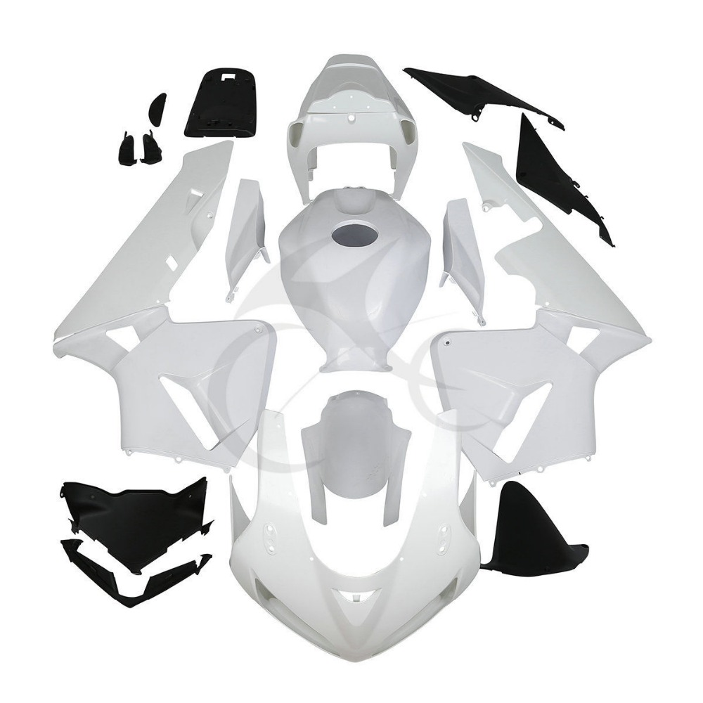 ABS White Injection Fairing Kit Unpaint For Honda CBR600RR CBR 600 RR F5 03 04 Motorcycle