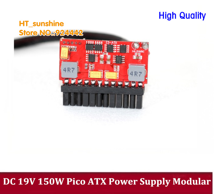 DC 19V input 24Pin Pico ATX 150W Switch PSU Car Auto Mini ITX High Power Supply Module ITX Z1 DC-DC HTPC Computer dc atx 120w mini itx htpc power supply module multicolored dc 11 4 12 6v