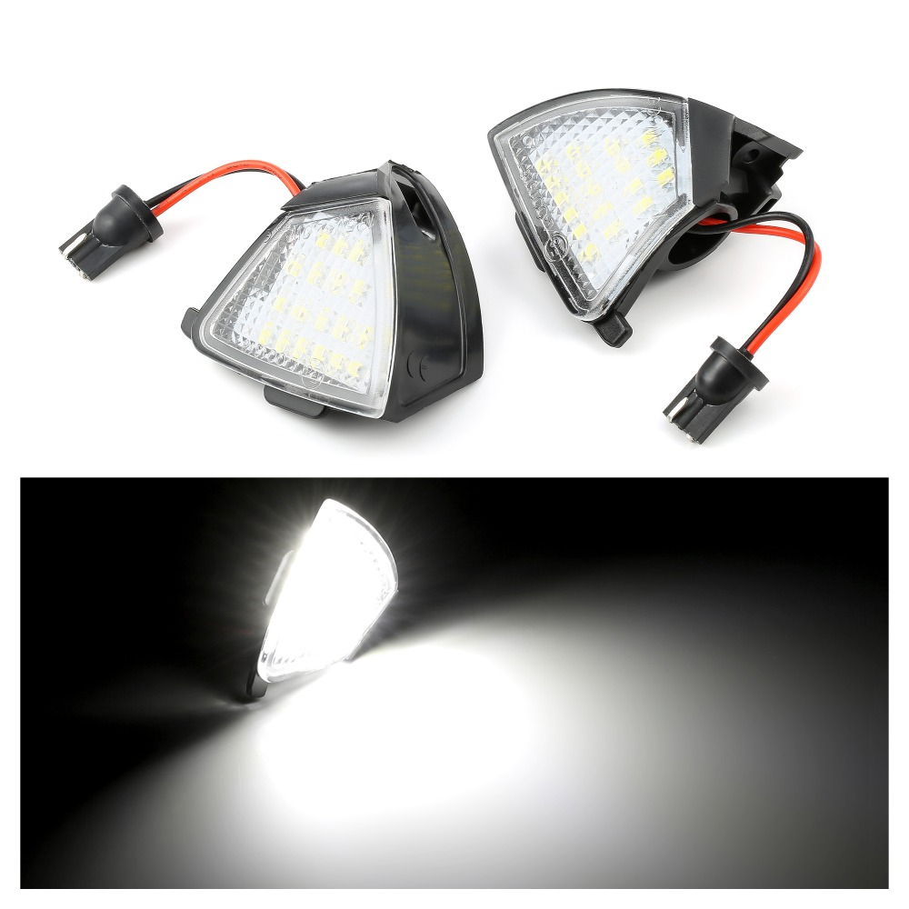 Pair <font><b>18</b></font> <font><b>SMD</b></font> LED Puddle lights Welcome lamps for VW Golf MK5 G-TI 5 Je-tta MK5 Passat B5.5 B6 Golf 5 Variant Plus image