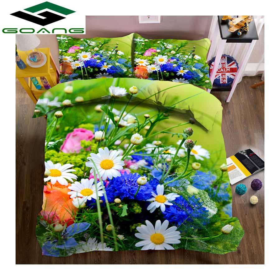 GOANG Hotel Bedding Duvet-Cover Bed-Sheet Queen Pillow-Case 3d 3pcs Home-Textiles Little-Daisy
