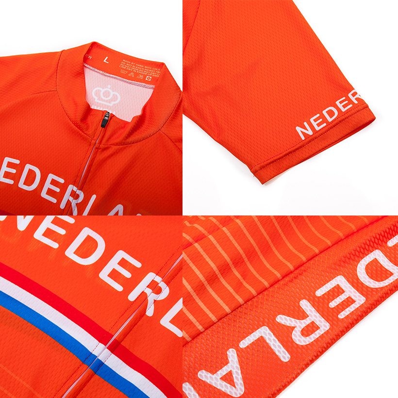 Crossrider 2019 Team Nederland Cycling Jersey MTB bike Clothing Men Short Set Ropa Ciclismo Bicycle Wear Clothes Maillot Culotte 3