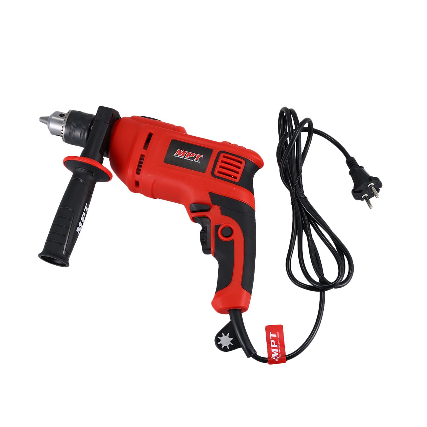MPT 13mm Variable Speed Impact Drill Electric Hand Drill Household Impact Drill 220v Multi-function Electric Screwdri 10mm variable speed electric drill for angle 380w hand drill 90 angle electric drill 0 1400rpm right angle hand electric drill