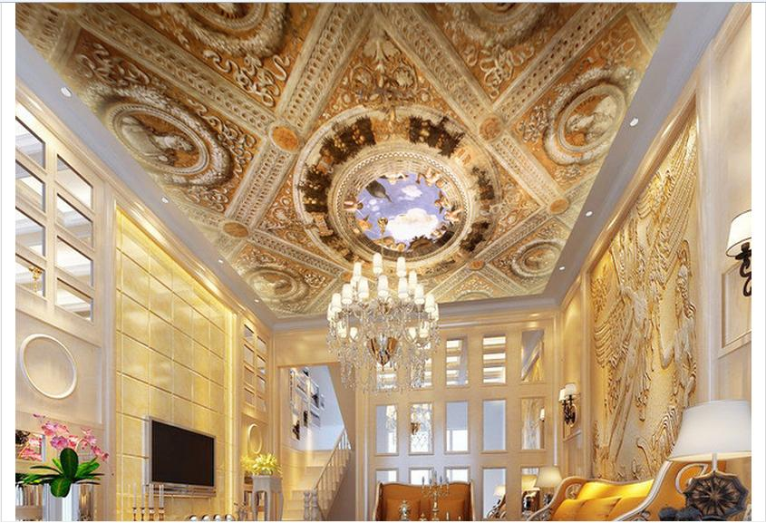 3d photo wallpaper 3d ceiling wallpaper murals 3 d for Ceiling mural wallpaper