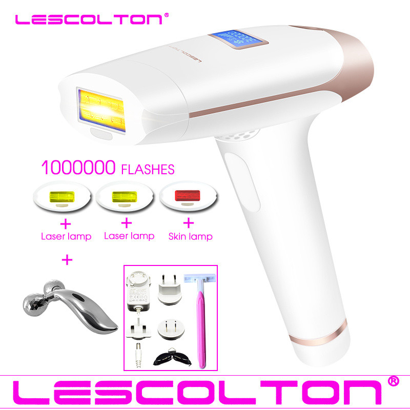 Original lescolton 1000000 times 4in1 depilador a laser IPL Epilator Hair Removal LCD Display Machine Laser Permanent Bikini