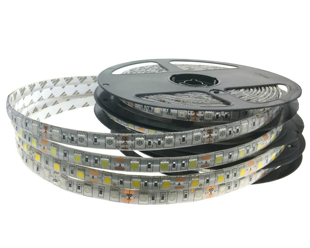 5m-es RGB LED 5050 SMD 12V-os rugalmas fény 60 led / m 5050 - LED Világítás