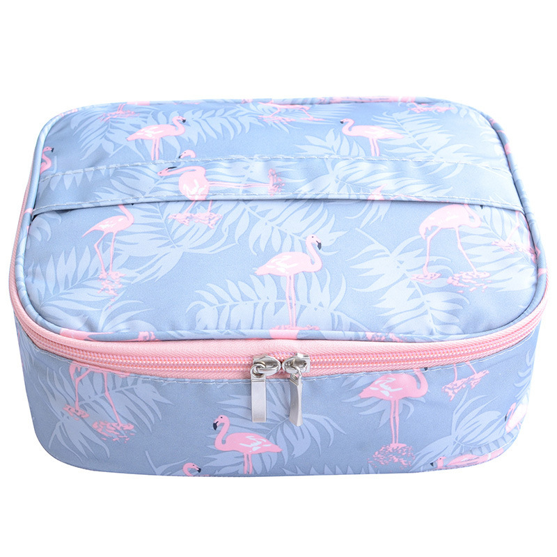 Flamingo waterproof Women Makeup bag Cosmetic bag Case Travel Make Up Toiletry bag Organizer Storage pouch set box professional msq make up bag pink and portable cosmetic bags for professional makeup artist toiletry case new arrival
