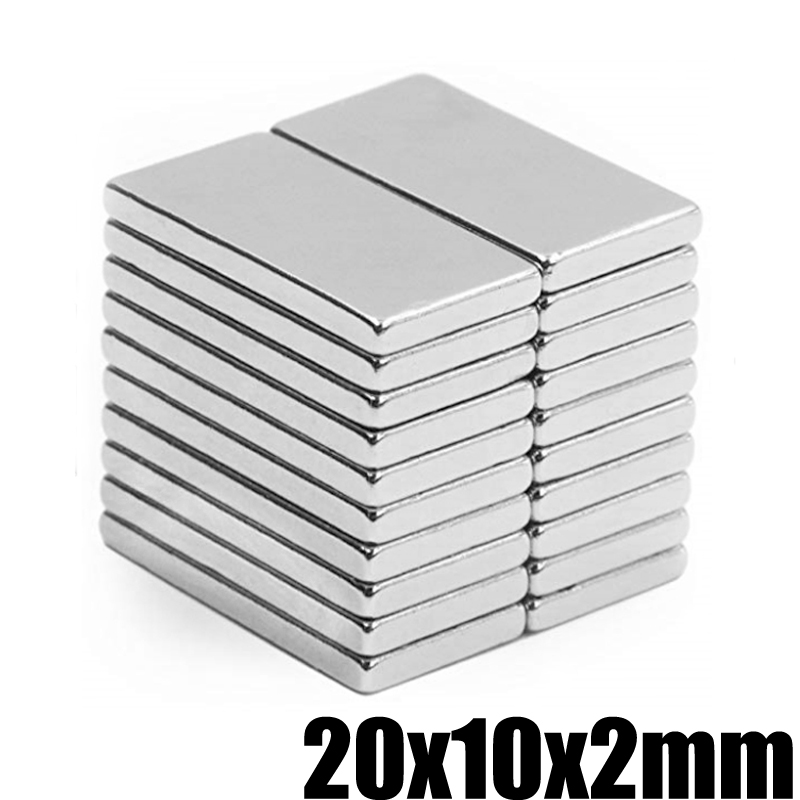 20Pcs Neodymium Magnet 20x10x2mm Permanent NdFeB N35 Small Mini Super Powerful Strong Magnetic Magnets For Crafts Gallium Metal