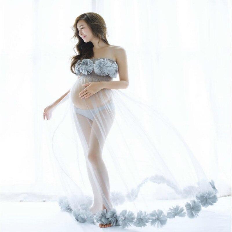 Envsoll robes de maternité pour femmes enceintes accessoires de photographie de maternité robe de grossesse Photo Shoot photographie vêtements robe