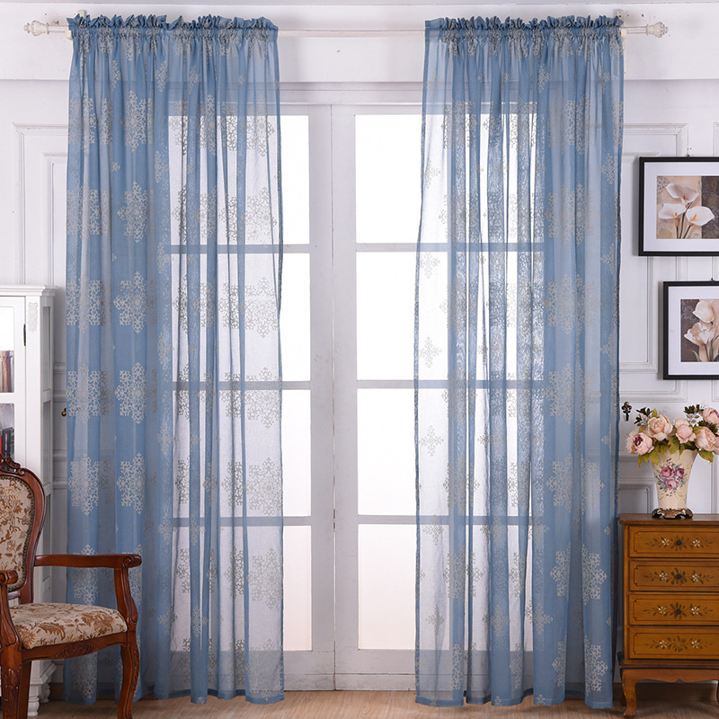 wholesale blue patterned curtains from china blue patterned curtains