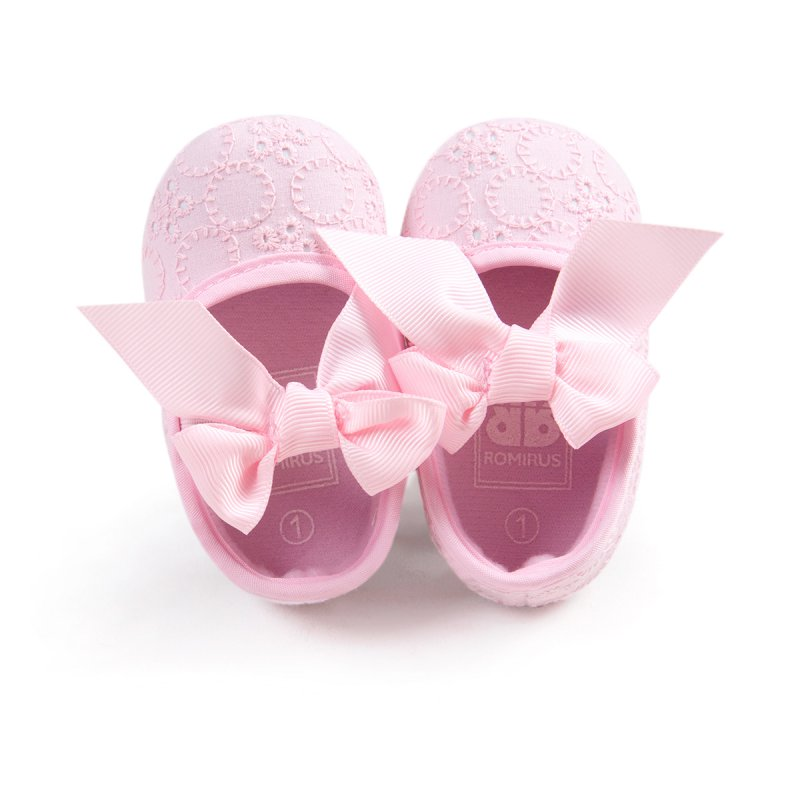 New Jelly Toddler Newborn Baby Cotton Cloth Butterfly-knot Ribbon Frist walker Prewalker Shoes 0-18M Shoes For Toddler Girls