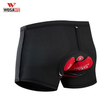 WOSAWE Mens Cycling Underwear Pro Shorts Unisex 5D Padded Bicycle Mountain MTB Riding Bike Sport Comfortable