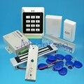 Полный 125 кГц Rfid карта стеклянная система контроля доступа двери комплект EM Контролер карты доступа + 350lbs магнитный замок + U кронштейн
