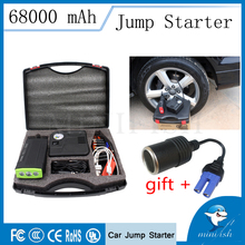 Factory Price  Emergency Portable Mini Car Jump Starter 68000mAh With Air Pump