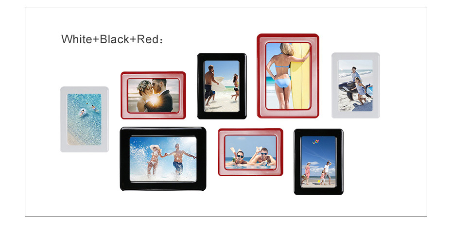 930 Magnetic Photo Frame With Adhesive Crystal Surface Kids Room Wall Decor Magnet Picture Frame_12