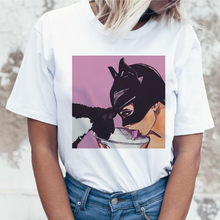 women t-shirt vintage harajuku t shirt catwomen batman kiss tops aesthetic tumblr streetwear tee shirt femme korean clothes(China)