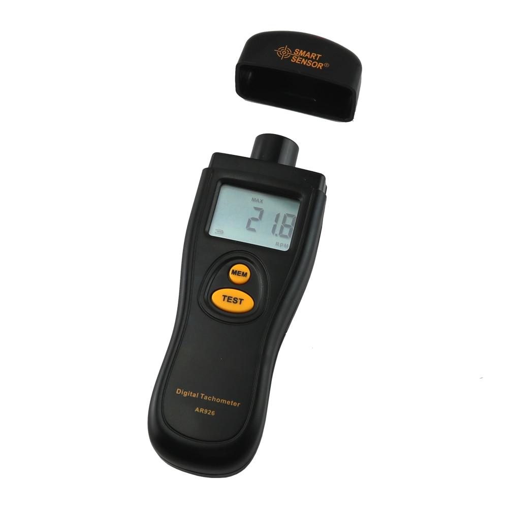 Tacómetro digital Medidor de velocidad de rotación Probador de rpm - Instrumentos de medición - foto 2