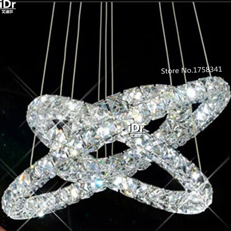 New 3 Ring Led K9 Crystal Chandelier Circles Modern Diamond Crtstal Lights High End European Style In Chandeliers From Lighting On