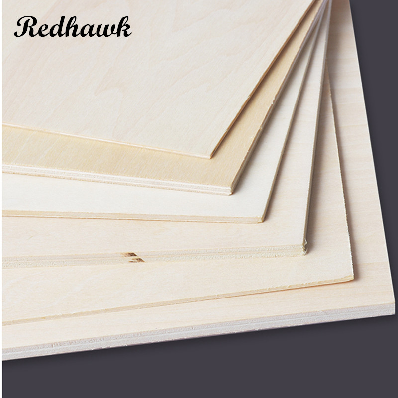 300x300mm Thickness 0.5-3mm super quality Aviation model layer board Birch plywood plank DIY wood model materials free shipping aaa balsa wood sheet balsa plywood 500mmx130mmx2 3 4 5 6 8mm 5 pcs lot super quality for airplane boat diy free shipping