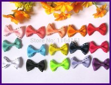80pcs mixed Color Ribbon Bows Wedding Party Decoration Hair With without clipt/Gift/decorated/Garment accessory