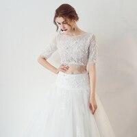 Robe De Mariage новая линия свадебное платье 2018 Милая шеи со шнуровкой сзади Дешевые Тюль платья невесты Китай