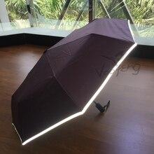 Hot sell Reflective Auto Open Auto Close umbrella for safe free shipping