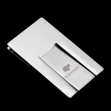 COHIBA Silver High Quality All Stainless Steel Foldable Stand Showing Portable Cigar Ashtray Holder 4477 extrusion switch stainless steel ashtray silver