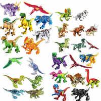 6/8/16/24/30 teile/satz Jurassic Dinosaurier Welt 2 Abbildung Baustein Ziegel Spielzeug Tyrannosaurus rex Kompatibel mit legoes Dinosaurier